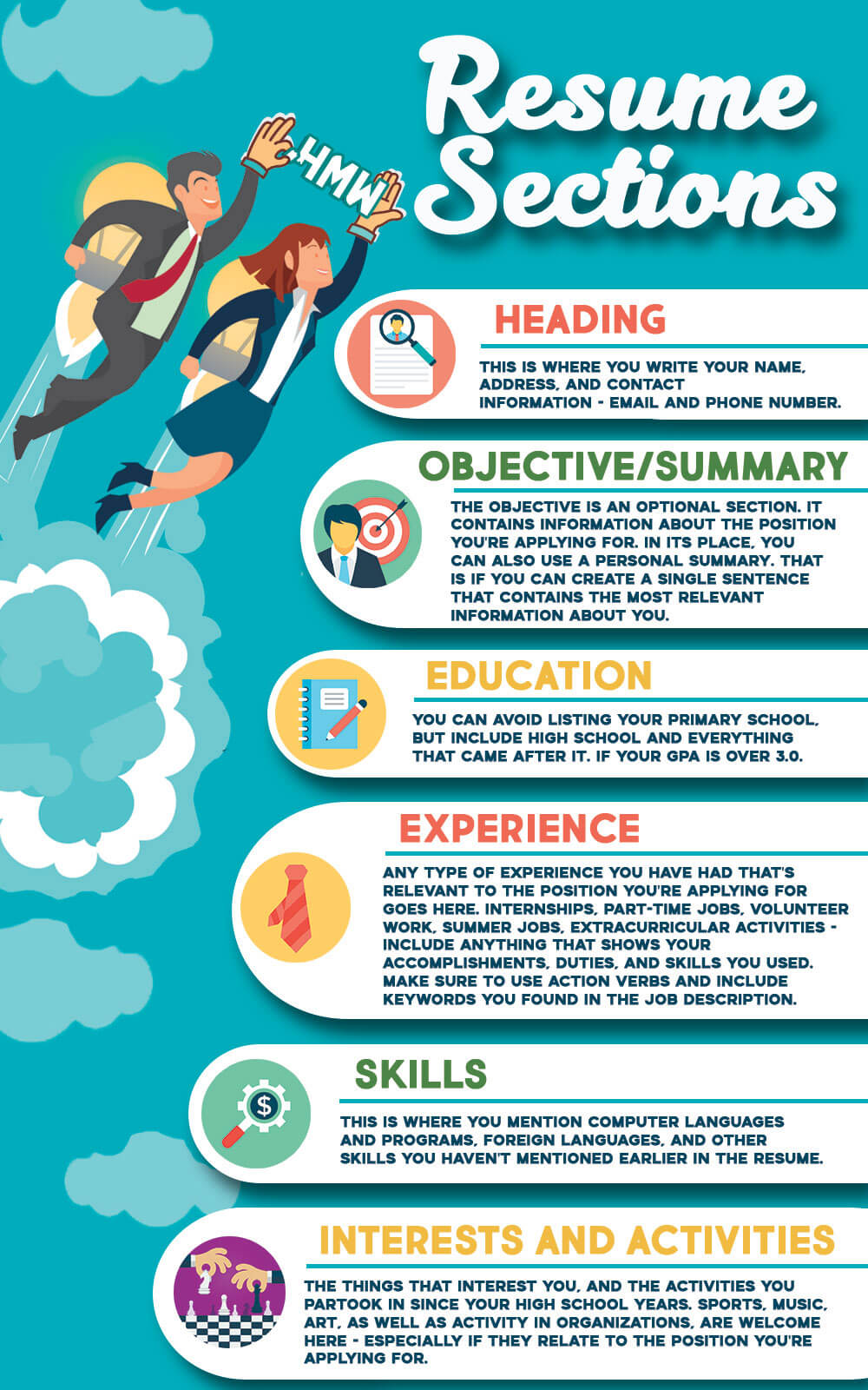 Resume Sections by HandMadeWriting