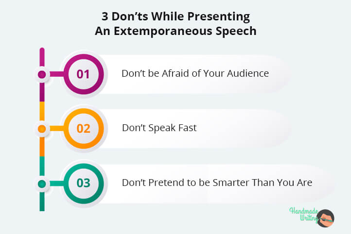 Things You Should Not Do While Presenting Extemporaneous Speech