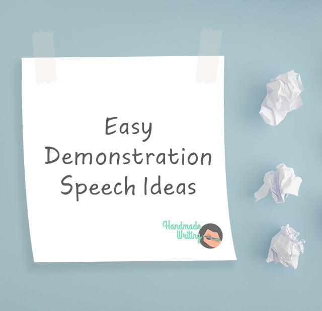 Demonstration Speech