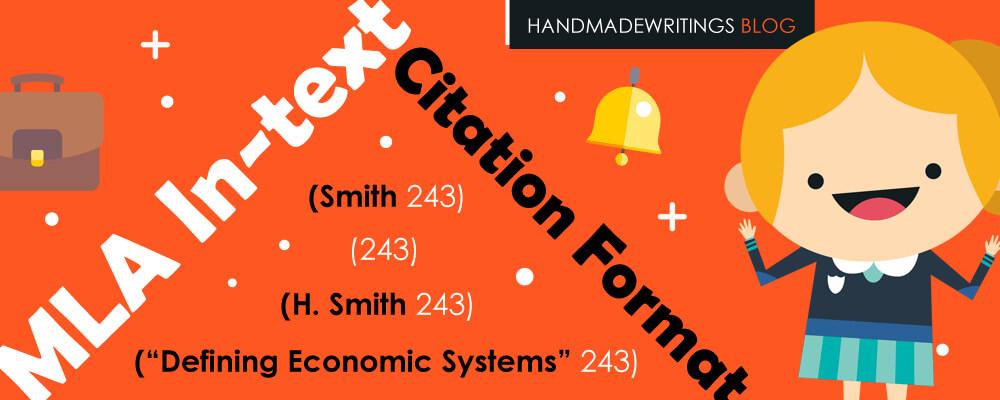 MLA in-text citation format