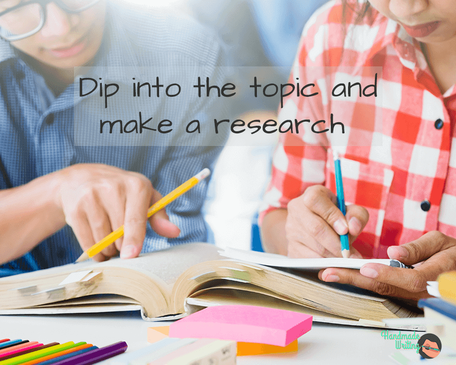 Dip into the topics and make a research