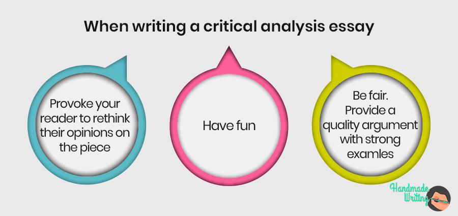 Useful advice for critical analysis essay