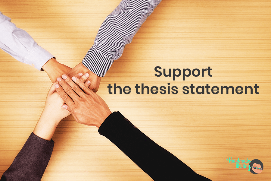Support the thesis statement