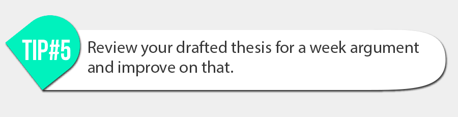 Review your drafted thesis